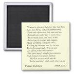 Sonnet # 35 by William Shakespeare Fridge Magnets