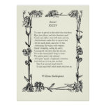 Sonnet # 35 by William Shakespeare Posters