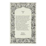 Sonnet # 3 by William Shakespeare Poster