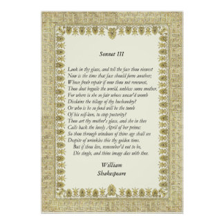 Sonnet # 3 by William Shakespeare Print