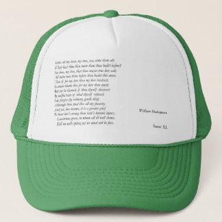 Sonnet # 40 by William Shakespeare Trucker Hat