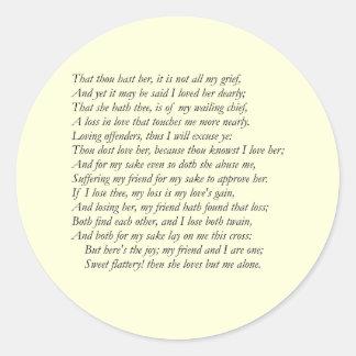 Sonnet # 42 by William Shakespeare Sticker