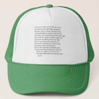 Sonnet # 43 by William Shakespeare Trucker Hat