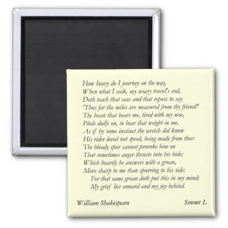 Sonnet # 50 by William Shakespeare Magnet