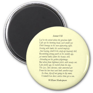 Sonnet # 7 by William Shakespeare Magnet