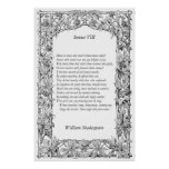 Sonnet # 8 by William Shakespeare Print
