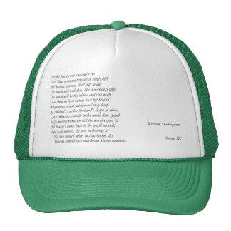 Sonnet # 9 by William Shakespeare Trucker Hat