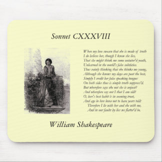 Sonnet Number 138 by William Shakespeare Mouse Pad