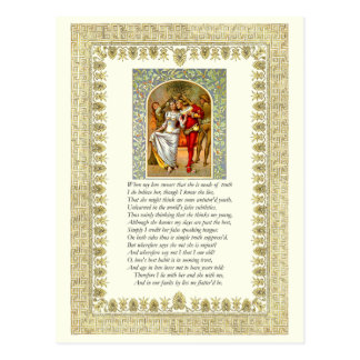 Sonnet Number 138 by William Shakespeare Postcard