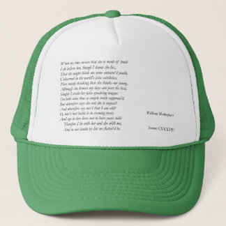 Sonnet Number 138 by William Shakespeare Trucker Hat