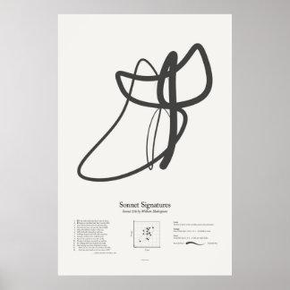 Sonnet Signatures: Sonnet 136 Poster