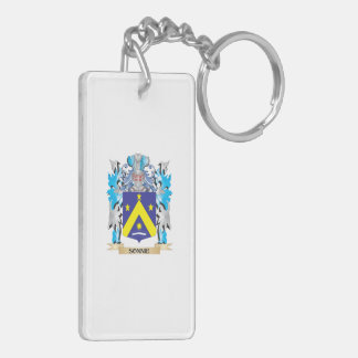 Sonnie Coat of Arms - Family Crest Double-Sided Rectangular Acrylic Keychain