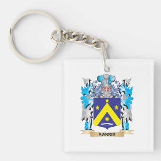 Sonnie Coat of Arms - Family Crest Single-Sided Square Acrylic Keychain