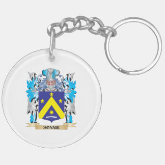 Sonnie Coat of Arms - Family Crest Double-Sided Round Acrylic Keychain
