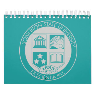 Sonniton State University Calendar - Teal/Gray