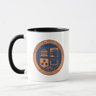 Sonniton State University Seal - Navy/Orange Mug