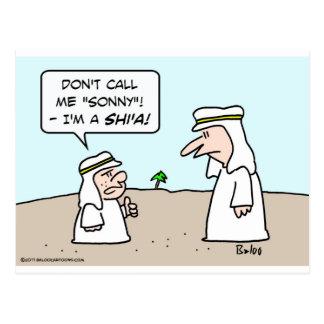 sonny musulmán musulmán árabe de chiíta del shi'a  tarjeta postal