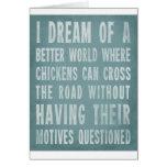 Soño con un mejor mundo felicitación