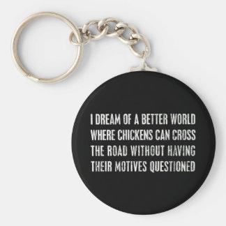Soño con un mejor mundo… llavero redondo tipo pin