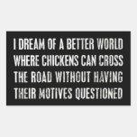 Soño con un mejor mundo… rectangular altavoz