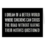 Soño con un mejor mundo… tarjeton