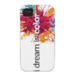 soño en caso del iPhone 4 del color (chapoteo) iPhone 4 Carcasas