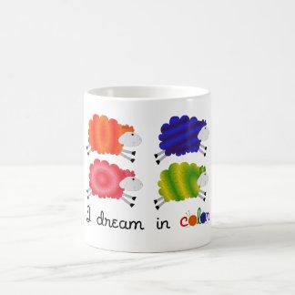 Soño en color tazas de café