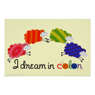 Soño en poster de las ovejas del color