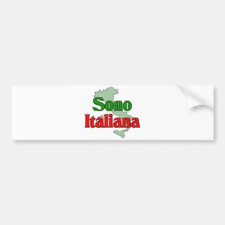 Sono Italiana Bumper Sticker