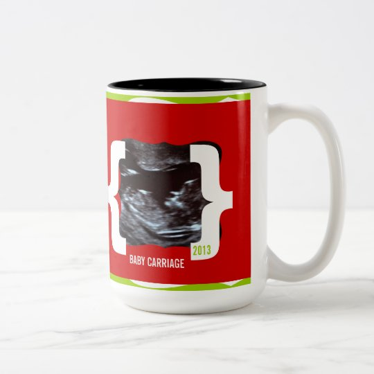 Sonogram Mug Surprise- Love Marriage Baby Carriage