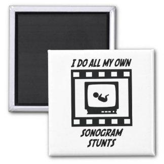 Sonogram Stunts 2 Inch Square Magnet