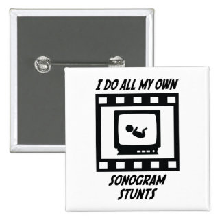 Sonogram Stunts Pinback Button