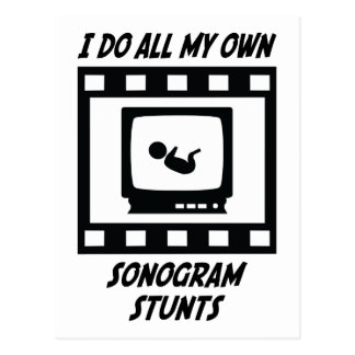 Sonogram Stunts Postcard