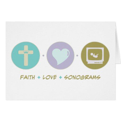 Sonograms del amor de la fe felicitaciones