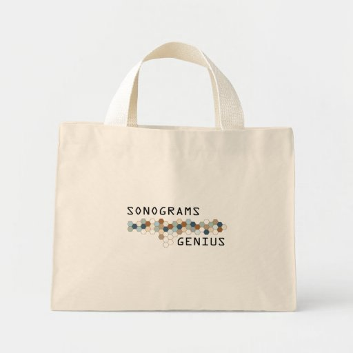 Sonograms Genius Canvas Bags