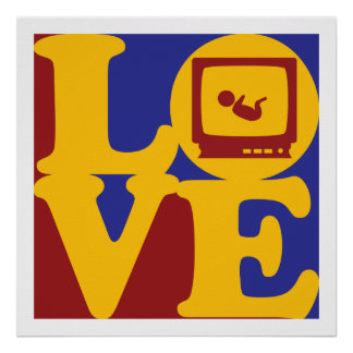 Sonograms Love Poster