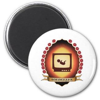 Sonograms Mandorla 2 Inch Round Magnet