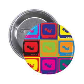 Sonograms Pop Art Pinback Button