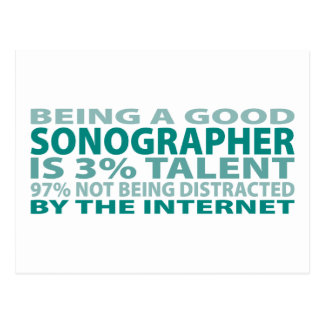 Sonographer 3% Talent Postcard