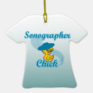 Sonographer Chick #3 Christmas Ornament
