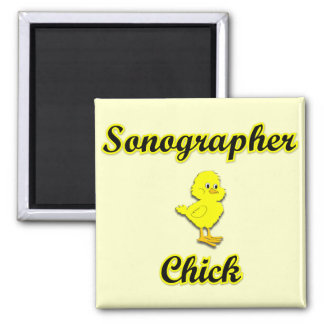 Sonographer Chick Refrigerator Magnet