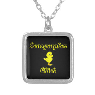 Sonographer Chick Silver Plated Necklace