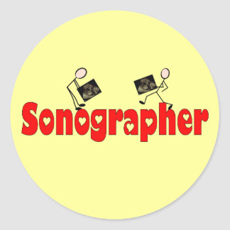 Sonographer Gifts Classic Round Sticker