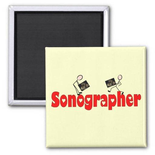 Sonographer Gifts Fridge Magnet