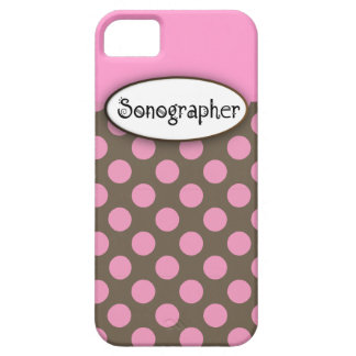 Sonographer iPhone 5 Case Pink Polka Dots