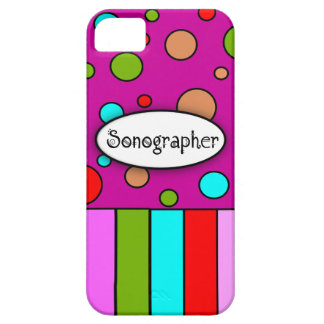 Sonographer iPhone 5 Case Stripes and Dots