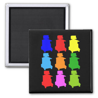 Sonographer Popart Gfits Magnets