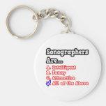Sonographer Quiz...Joke Basic Round Button Keychain
