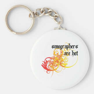Sonographers Are Hot Basic Round Button Keychain
