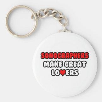 Sonographers Make Great Lovers Basic Round Button Keychain
